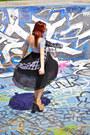 Skull-thrifted-scarf-spiral-american-apparel-dress