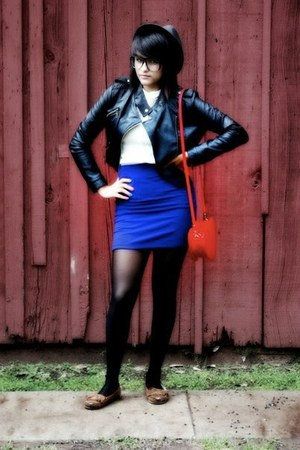 Forever 21 skirt - Forever 21 hat - Forever 21 jacket - Forever 21 purse