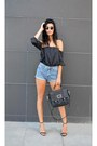 Leather-bag-marc-by-marc-jacobs-bag-denim-shorts-choiescom-shorts