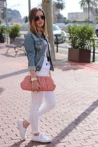 blue H&M jacket