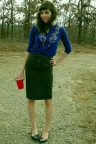 gray Forever 21 skirt - blue Forever 21 cardigan
