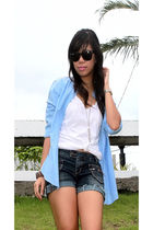 Zara top - Zara shirt - shorts