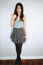 Gray-american-apparel-top-black-vintage-skirt-black-topshop-shoes-blue-vin