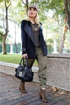 Sheinside coat - Zara boots - Armani Exchange bag - Zara pants