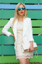 Romwecom blazer - Romwecom dress - street level bag - romwe sunglasses