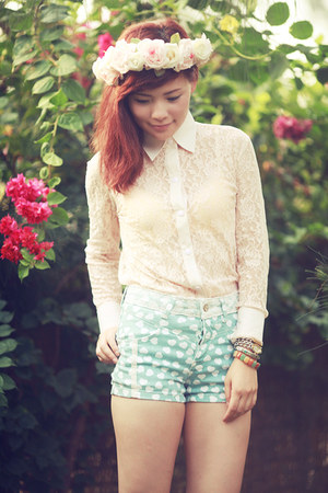 light blue Zara shorts