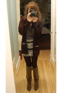 Black-smitten-cardigan-american-apparel-skirt-black-jcrew-tights-brown-boo