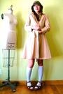 Brown-urban-outfitters-hat-gray-vintage-dress-gray-jcrew-socks-brown-vinta