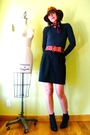 Gray-forever-21-sweater-black-dickies-skirt-orange-vintage-belt-black-targ