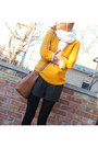 Mustard-urban-outfitters-sweater-old-navy-scarf-brown-chloe-bag-forever-21