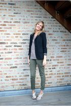 American Eagle pants - Forever 21 top - Anthropologie blazer - JCrew shoes