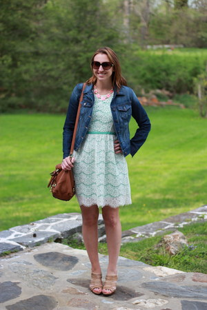 Old Navy jacket - elle lace kohls dress - Michael Kors bag