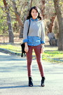 Black-ross-bag-ruby-red-forever-21-jeans-tan-knitted-forever-21-sweater