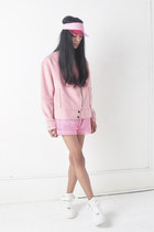 Front Row Shop hat - wool Front Row Shop jacket - Choies shorts - nike sneakers