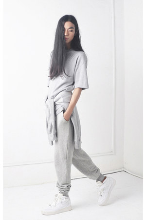 cotton Front Row Shop pants - nike sneakers