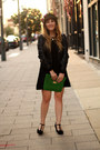 Black-forever21-dress-black-marshalls-jacket-green-mark-purse
