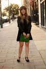 Black-forever21-dress-black-marshalls-jacket-green-mark-purse