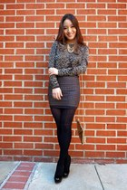 black talbots tights - gold Winky Designs bag - black The Girl That Loves skirt