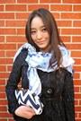 Navy-madewell-dress-navy-spiegel-coat-light-blue-printed-nepali-by-tdm-scarf