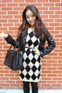 Black-platform-asos-boots-eggshell-checkered-oasap-dress
