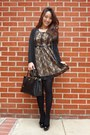Black-amiclubwear-dress-black-saffiano-prada-bag