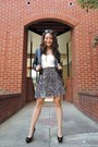 Black-chiffon-charlotte-russe-dress-black-ann-taylor-jacket-gray-vintage-bag