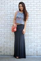 The Gray Maxi Skirt