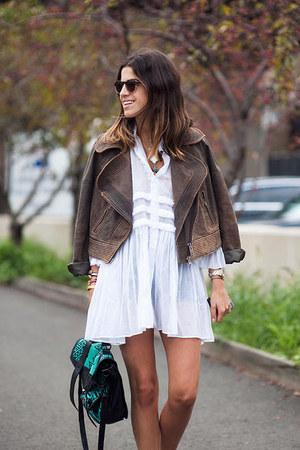 aquamarine PROENZA SCHOULER bag - white Ermanno Scervino dress