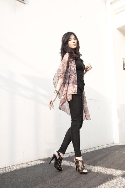 sling back Gabriella Rocha heels - denim Topshop jeans