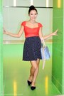 Red-hk-brand-top-navy-two-key-intl-skirt