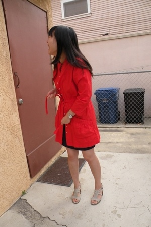 BB Dakota coat - forever 21 skirt - Nine West shoes