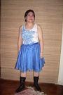 Blue-la-pagayo-jacket-white-gap-top-blue-gift-from-a-friend-skirt-black-ni
