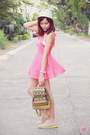 Pink-mini-miss-sixty-dress-beige-brogues-cole-haan-flats