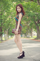 dark green one-shoulder Blind Clothing dress
