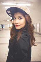 black lace mini Shopthiseasy dress - heather gray baseball new era hat