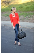 gold cents of style necklace - blue Apricot Lane Botique jeans
