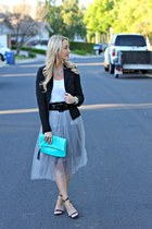tulle Very Jane skirt - black Steve Madden shoes - black BCBG blazer