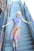 wrap skirt skirt - light purple sweater shirt