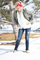 choker JewelMint necklace - jeggings American Eagle pants