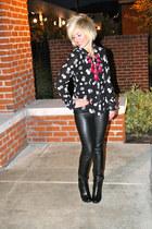 bobbles ShawtynStilettos necklace - faux leather Nordstroms pants
