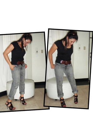 H&M t-shirt - Old Navy pants - michael antonio shoes - Rico belt