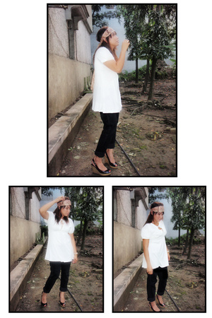 department store top - Old Navy pants - Charles & Keith shoes - Old Navy accesso