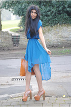 tan platforms Asos Bitten Heels heels - dip hem Glamorousuk dress