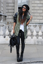 khaki River Island coat