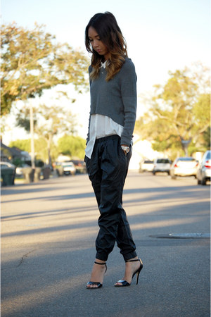 H&M blouse - Mango sweater - Urban Outfitters pants