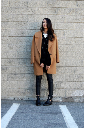 Zara coat - asos boots - Reformation sweater - Zara pants
