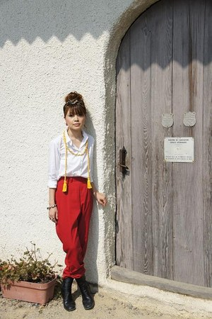 vintage pants - Uniqlo blouse