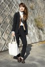 Backs-jacket-used-bag-used-cardigan-vintage-blouse-zara-pants