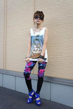 my handmade watch - ANAP leggings - Zara top