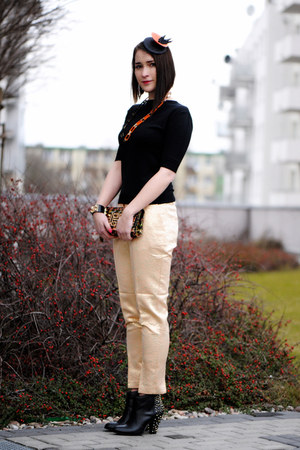 orange shiny H&amp;M pants